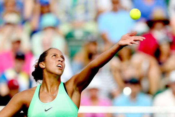 Madison Keys in action at the Miami Open (Getty/Matthew Stockman)