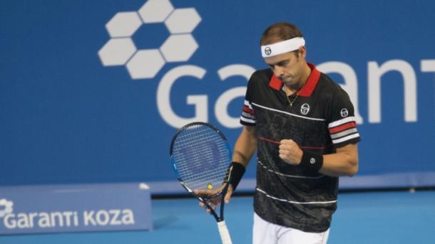 Gilles Muller celebrates his win - Source: SofiaOpen.bg
