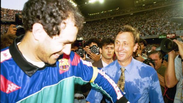 Zubizarreta y Johan Cruyff | Autoría desconocida