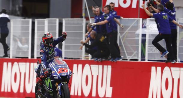 Viñales buscará la tercera victoria consecutiva. Foto: Yamaha Factory Racing