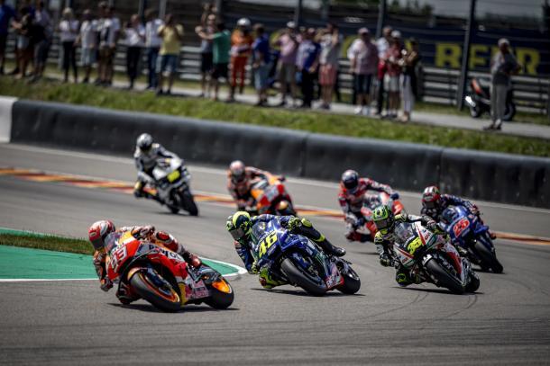 Carrera del GP de Sachsenring. Foto: Movistar Yamaha