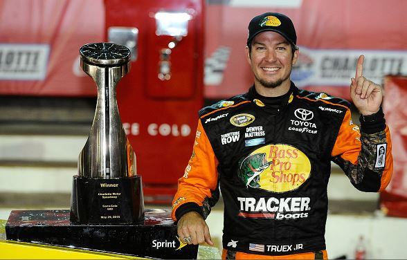 Martin Truex, Jr. after winning the NASCAR Sprint Cup Series Coca-Cola 600 at Charlotte Motor Speedway on May 29, 2016 in Charlotte, North Carolina   Rainier Ehrhardt - Getty Images