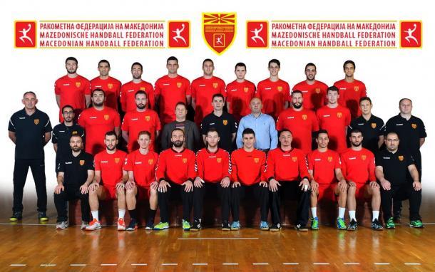 Selección macedonia. Foto: EHF.