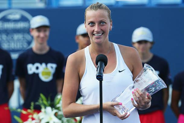 Petra Kvitova after winning the title in 2015 (Getty/Maddie Meyer)