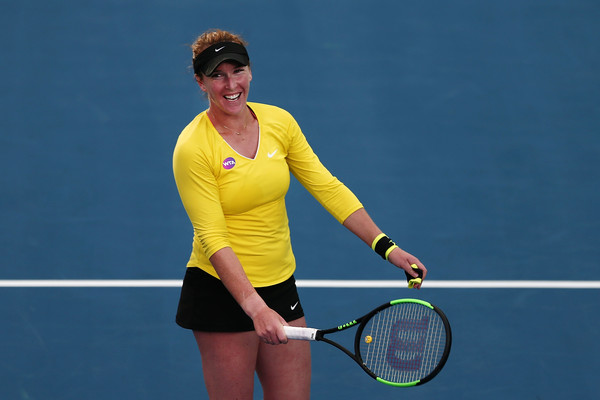 Madison Brengle celebrates her incredible win over Serena earlier in the year   Photo: Anthony Au-Yeung/Getty Images AsiaPac