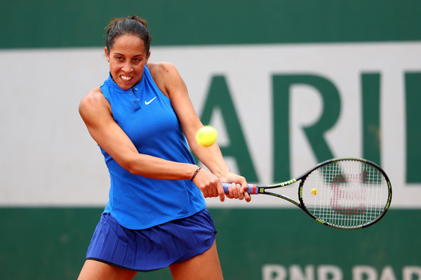 Madison Keys hits a backhand during the 2016 French Open. | Photo:Julian Finney/Getty Images Europe