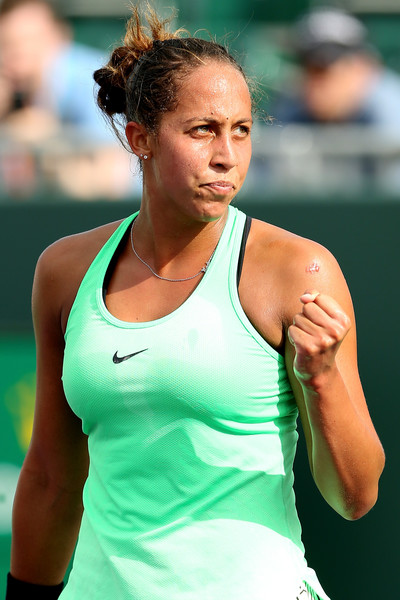 Madison Keys celebrates the win | Photo: Matthew Stockman/Getty Images North America