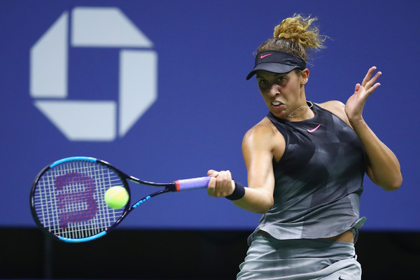 Madison Keys' forehand was firing early in the match | Photo: Clive Brunskill/Getty Images North America