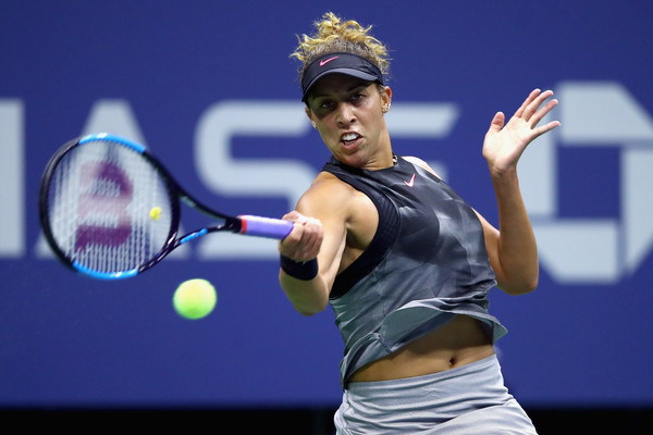 Power: Madison Keys was dominant during her matches throughout the fortnight | Photo: Clive Brunskill/Getty Images North America