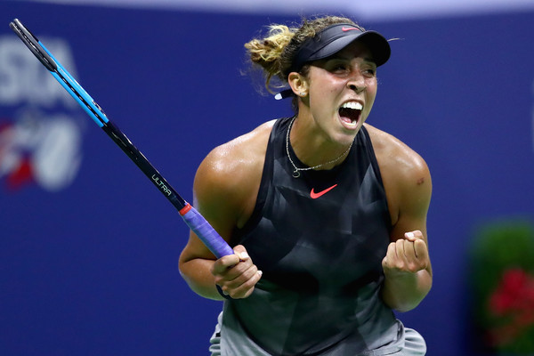 Madison Keys celebrates winning the match | Photo: Clive Brunskill/Getty Images North America