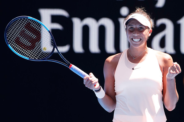 Keys was definitely pleased with her performance today | Photo: Darrian Traynor/Getty Images AsiaPac