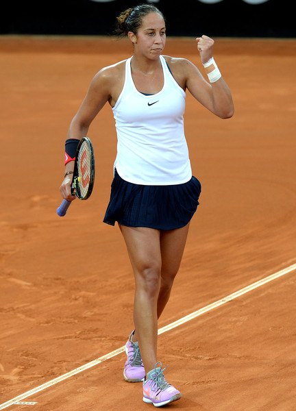 Keys in Fed Cup action against Gavrilova. Photo: Bradley Kanaris/Getty Images