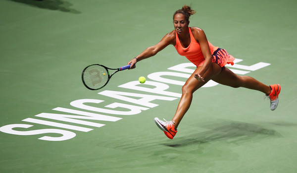Madison Keys in action at the WTA Finals | Photo: Clive Brunskill/Getty Images AsiaPac