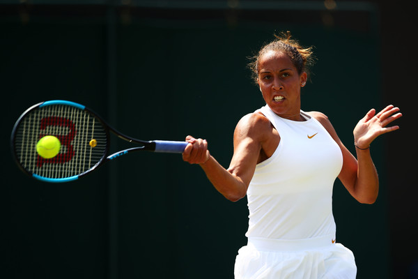 Madison Keys' forehands were on and off today | Photo: Clive Brunskill/Getty Images Europe