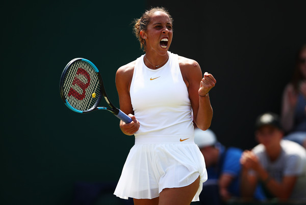 Madison Keys celebrates winning a point | Photo: Clive Brunskill/Getty Images Europe
