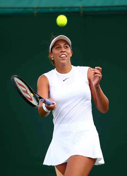 Madison Keys sends the ball into the crowd after her win | Photo: Clive Brunskill/Getty Images Europe