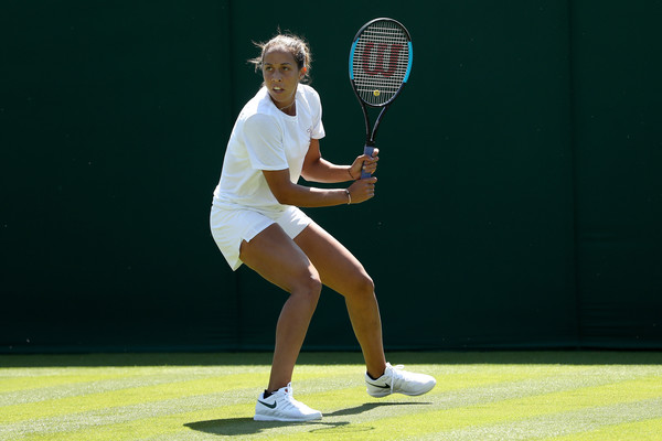 Madison Keys captured during a practice session at Wimbledon during the week | Photo: Matthew Stockman/Getty Images Europe