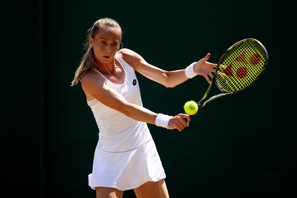 Magdalena Rybarikova in action during the match | Photo: Clive Brunskill/Getty Images Europe