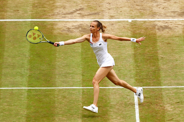 Magdalena Rybarikova hits a volley | Photo: Michael Steele/Getty Images Europe