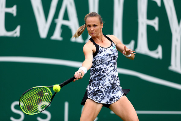 Magdalena Rybarikova will now face Kristina Mladenovic in the second round | Photo: Jordan Mansfield/Getty Images Europe