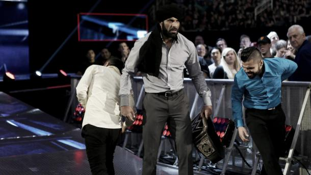 Randy Orton didn't hinder Jinder. Photo- WWE.com