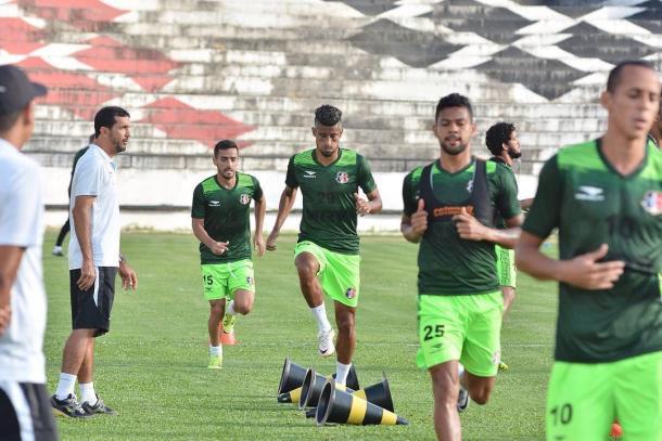 Apesar do treino longo, time titular não foi esboçado (Foto: Divulgação/Santa Cruz)