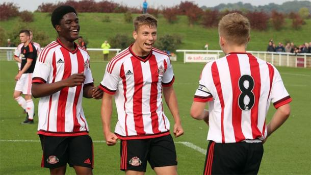 Joshua Maja (left) is one of the most promising youngsters in Sunderland's Academy. (Photo: Sunderland AFC)