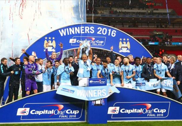Manchester City's Capital One Cup win is likely to secure a Europa spot for the sixth placed PL team (photo: getty)