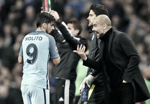 Nolito perdió la confianza de Guardiola y acabó siendo un habitual del banquillo. Foto: Getty.