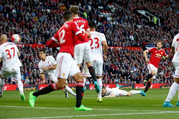 Blind scored United's opener against Liverpool in a 3-1 win back in September | Photo: Getty Images