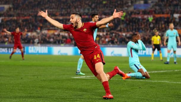 Manolas fez o gol que eliminou o Barcelona. (Foto: Roma)