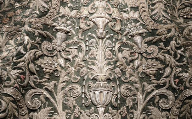 El manto de la Coronación de la Esperanza Macarena. Foto: web oficial de la Hermandad