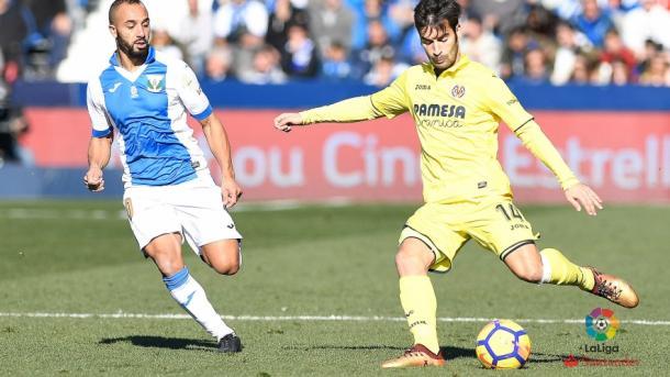Manu Trigueros en una acción durante el partido contra el Leganés en la jornada 14 | Foto: La Liga