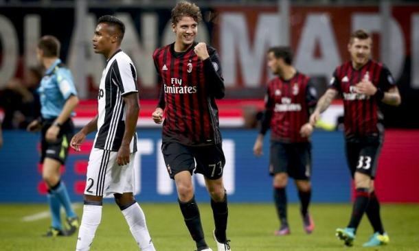 Locatelli dopo il gol contro la Juventus, albarsport.com