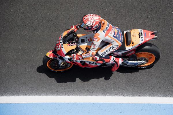 Marc Márquez en el pasado GP de España | Foto: Mirco Lazzari - Getty Images