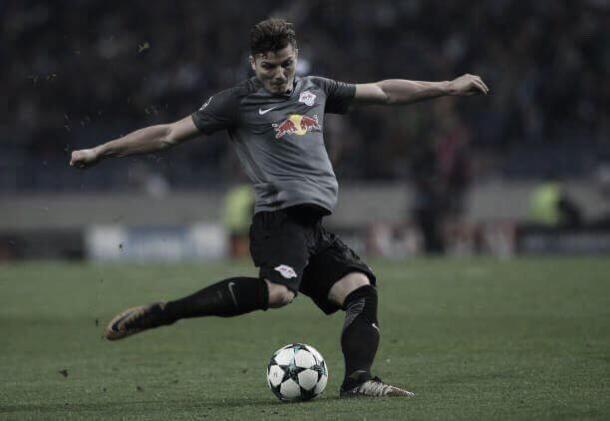 O austríaco Marcel Sabitzer em ação na UEFA Champions League