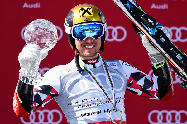 Marcel Hirscher wins the 2015/16 GS Crystal Globe (Photo: Alain Grosclaude/Agence Zoom/Getty Images Europe)
