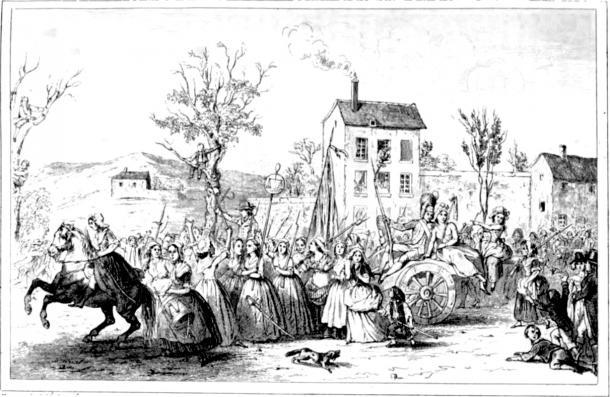 La Marcha de las Mujeres a Versalles el 5 y 6 de octubre de 1789. Museo de Historia de la República Francesa (PD).