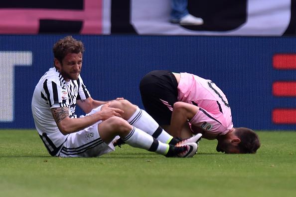 Marchisio se rompió el ligamento cruzado de la rodilla con la Juventus. // Foto: Getty Images