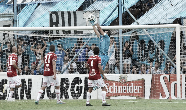 Marcos Díaz fue el mejor del partido en Huracán. | Foto: TyC Sports