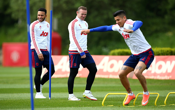 Marcos Rojo returned to Manchester United training on Thursday | Photo: Dave Thompson/Getty Images