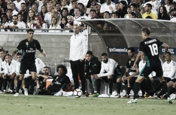 Zidane levou os garotos da base para a pré-temporada nos EUA (Foto: Reprodução/Getty Imagens)