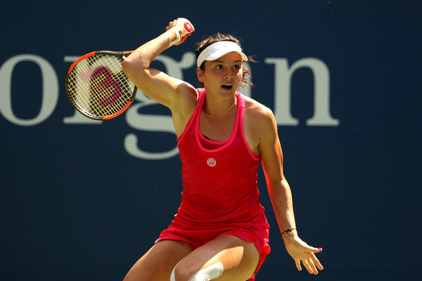 This was Margarita Gasparyan's biggest match of her comeback thus far | Photo: Elsa/Getty Images North America