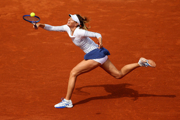 Maria Sharapova in her last clay court match before her ban started | Photo: Clive Brunskill/Getty Images Europe