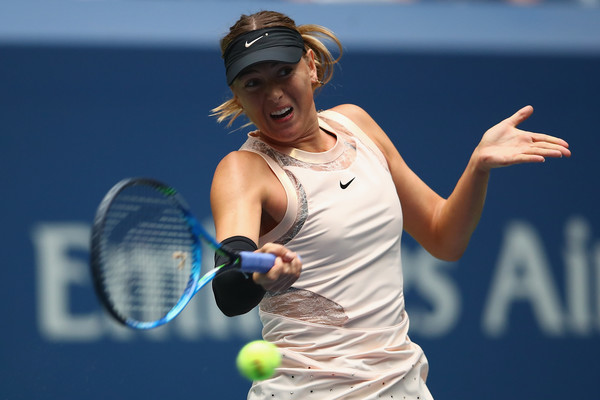 Maria Sharapova's backhand looked impressive early on | Photo: Clive Brunskill/Getty Images North America