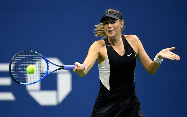 Maria Sharapova in action during her second-round win over Cirstea | Photo: Steven Ryan/Getty Images North America