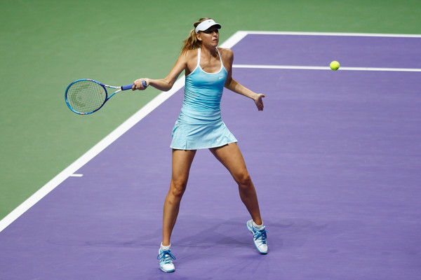 Maria Sharapova in action at the 2015 WTA Finals | Photo: Julian Finney/Getty Images AsiaPac