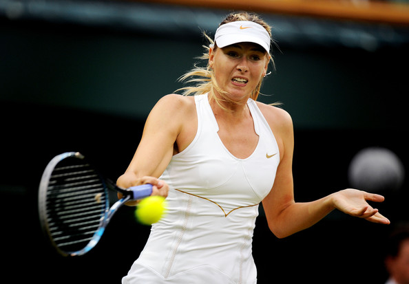 Sharapova in action during her 2011 Wimbledon meeting with Cibulkova. | Photo Courtesy: Clive Mason/Getty Images Europe