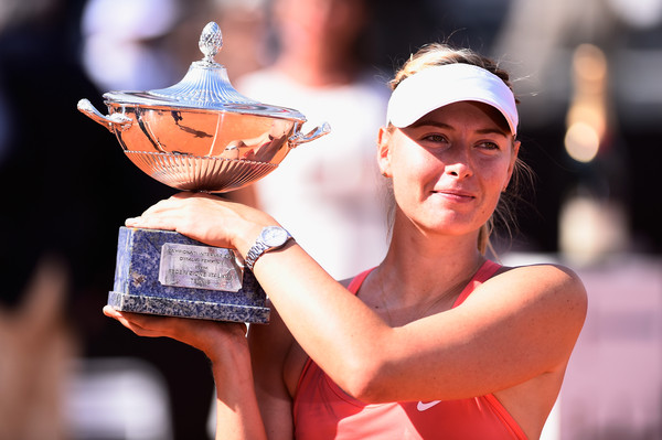 Sharapova won the title here in her last appearance