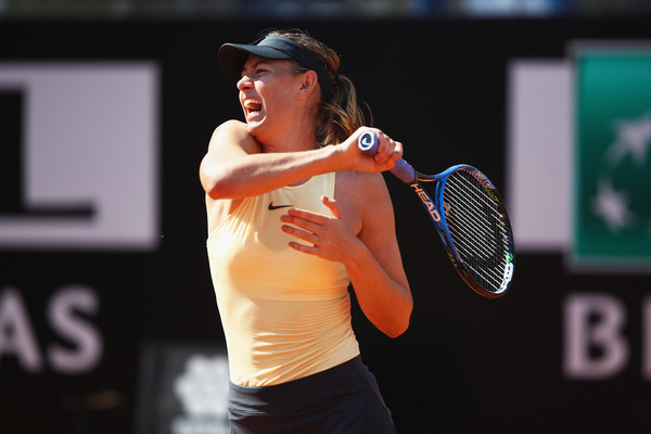 Maria Sharapova started gaining the rhythm on her shots in the second set, firing more winners than errors | Photo: Julian Finney/Getty Images Europe